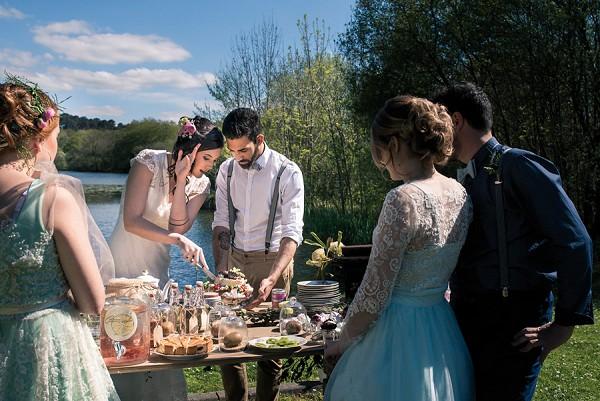 rustic wedding food