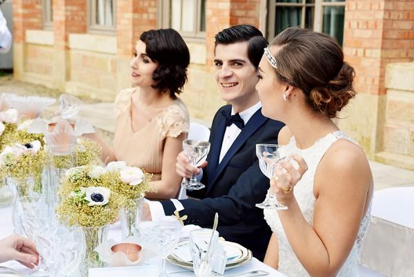 1920's inspired wedding reception