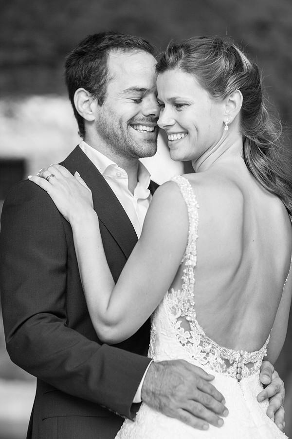 Backless Pronovias wedding gown