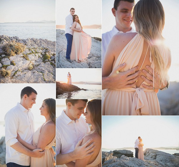 Chic Seaside French Riviera Engagement Snapshot