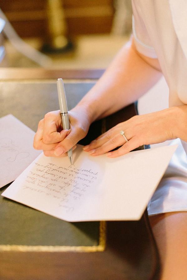 Groom wedding note