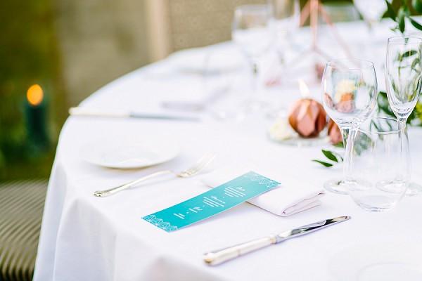 Modern wedding table design