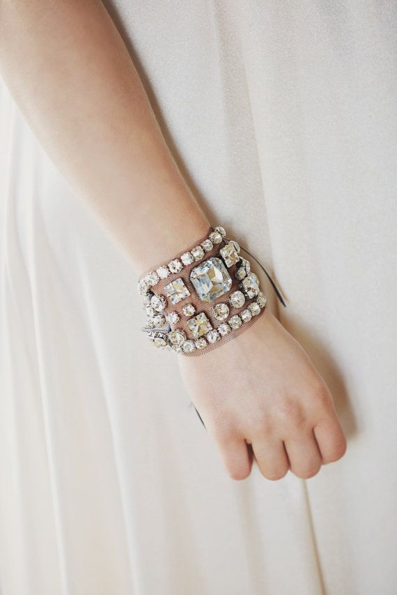 Nefertite - Tulle Statement Crystal Cuff