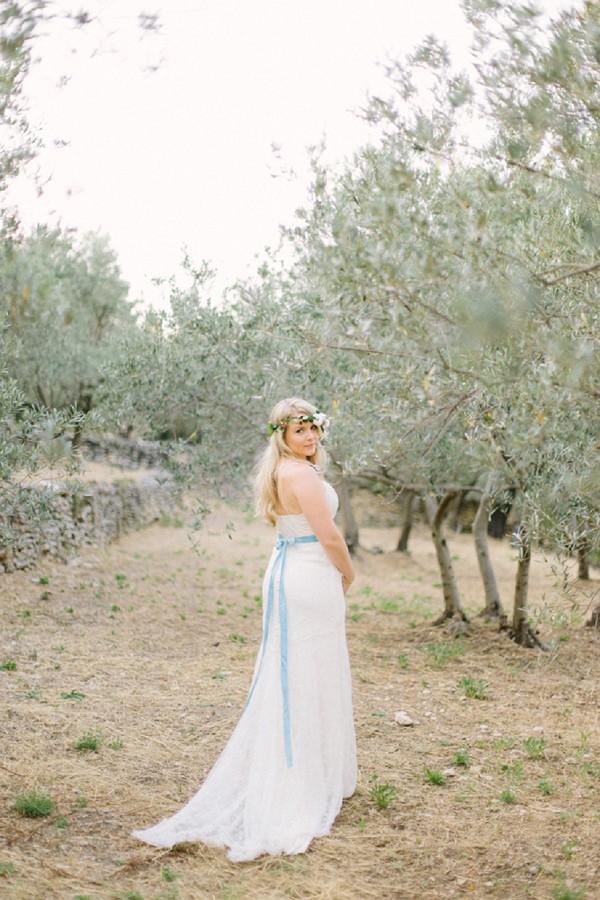 Olive tree wedding portrait