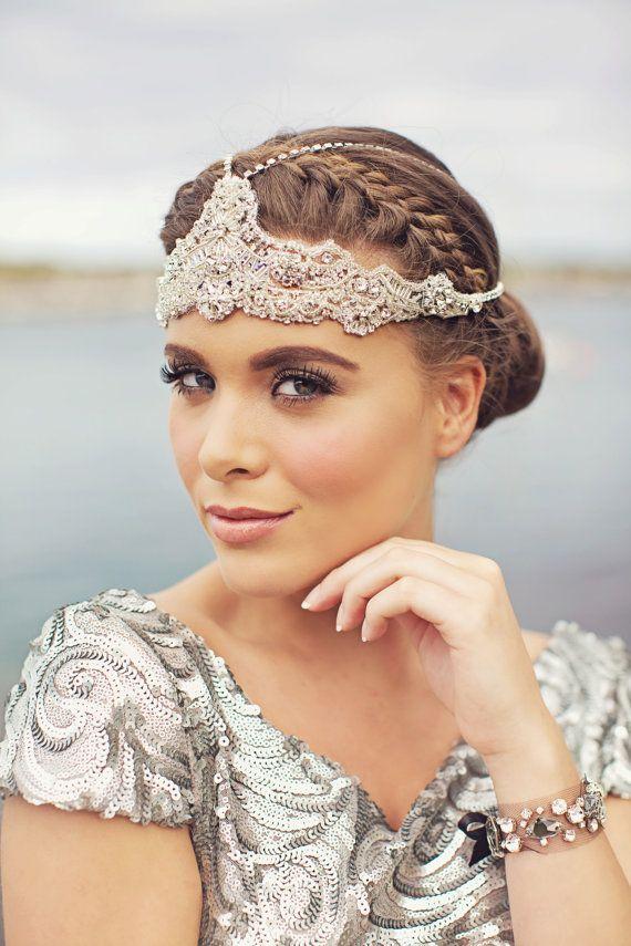 Ophelia - Crystal Lace Bohemian Headchain