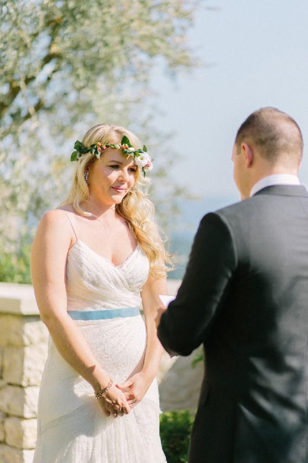 Outdoor Provence wedding ceremony
