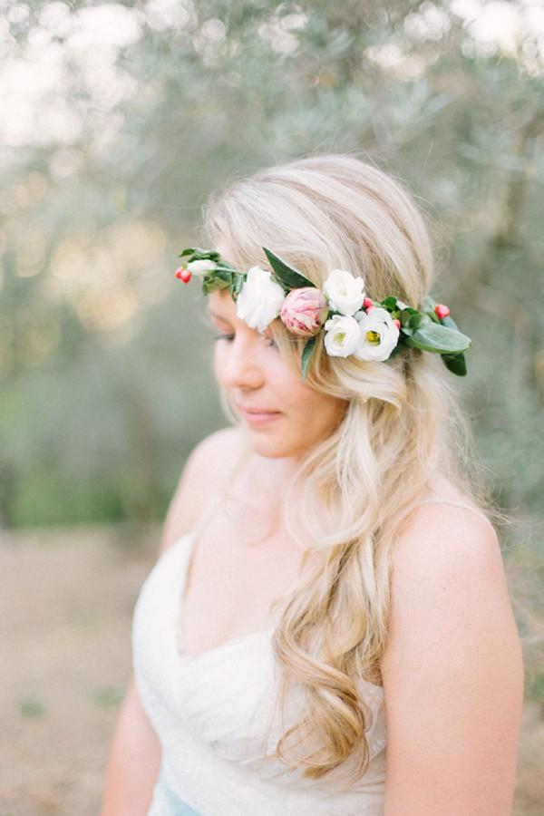 Pretty summer flower crown