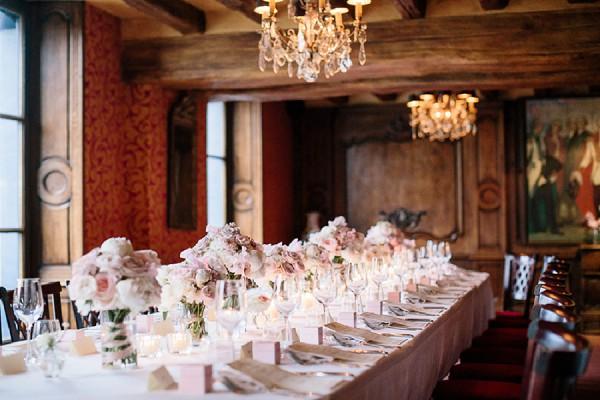 Romantic wedding meal