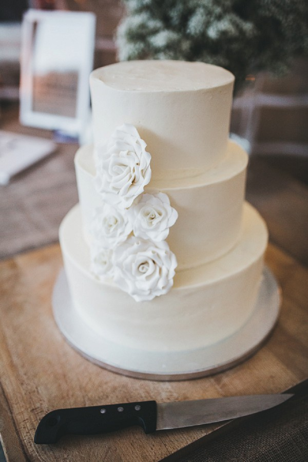 Simple red velvet wedding cake
