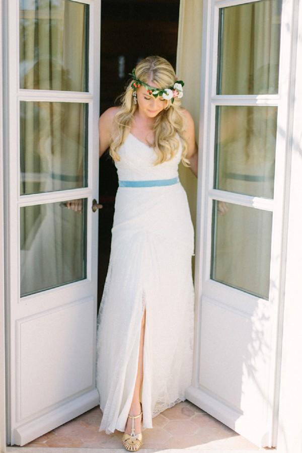 Something blue wedding dress
