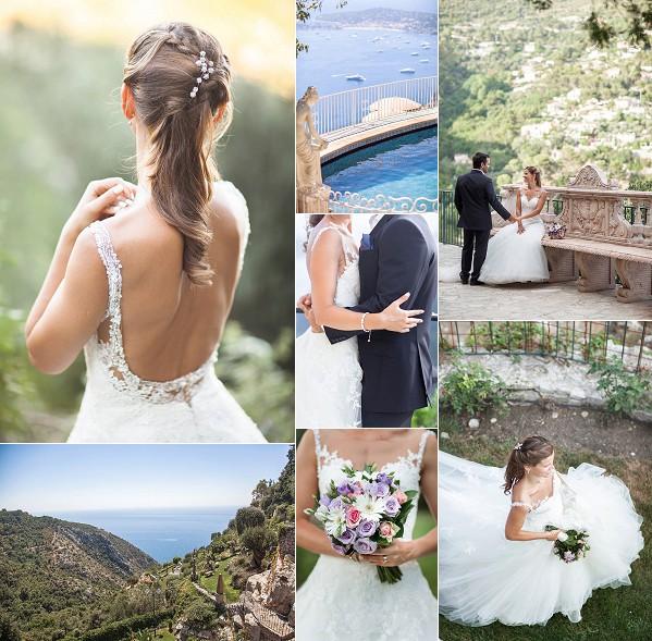 South of France Chateau Eza Wedding Snapshot