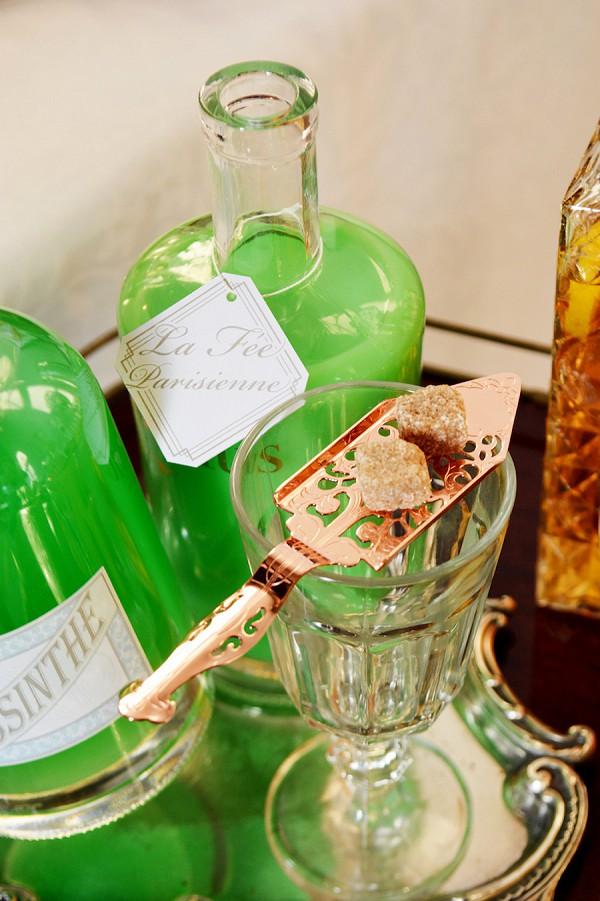 absinthe wedding cocktail