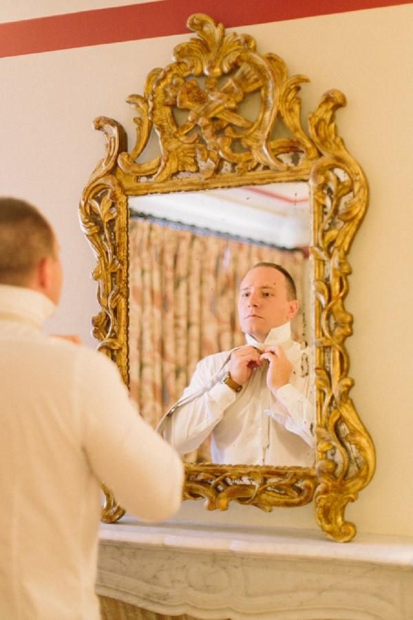 groom getting ready wedding