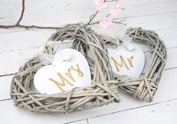 rustic wedding heart decorations