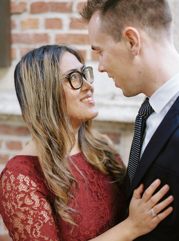 wearing glasses on your couple shoot