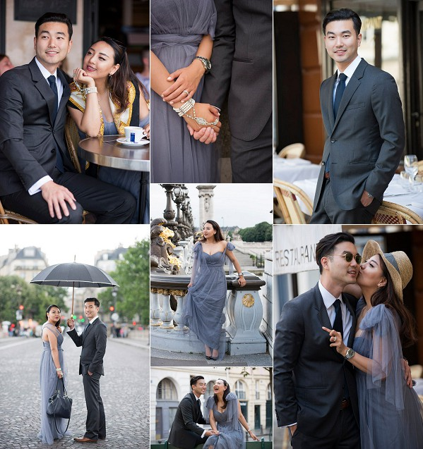A Rainy Romantic Engagement Session in Paris Snapshot