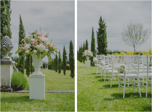 Chateau wedding flowers - Claire Morris Photography