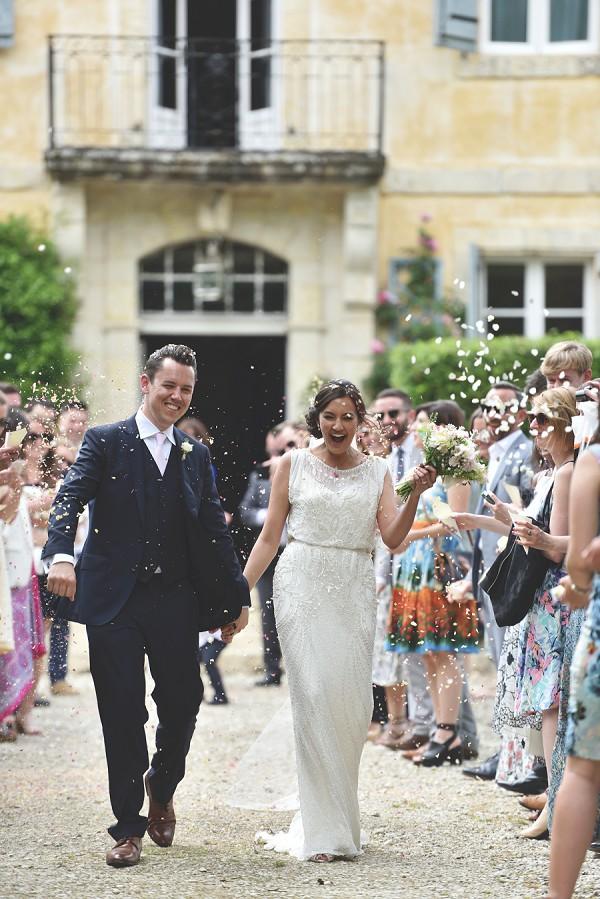 Confetti line wedding day