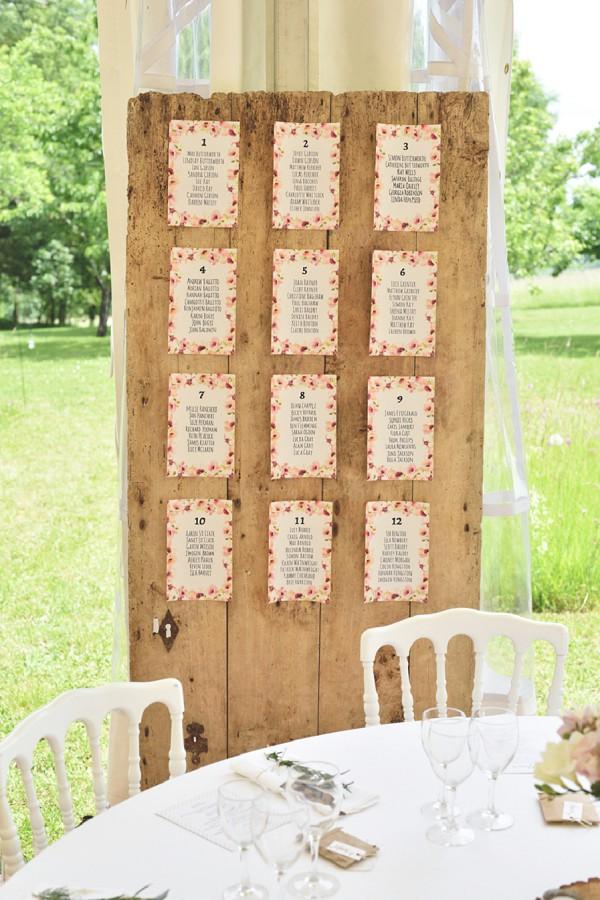 Rustic table plan idea