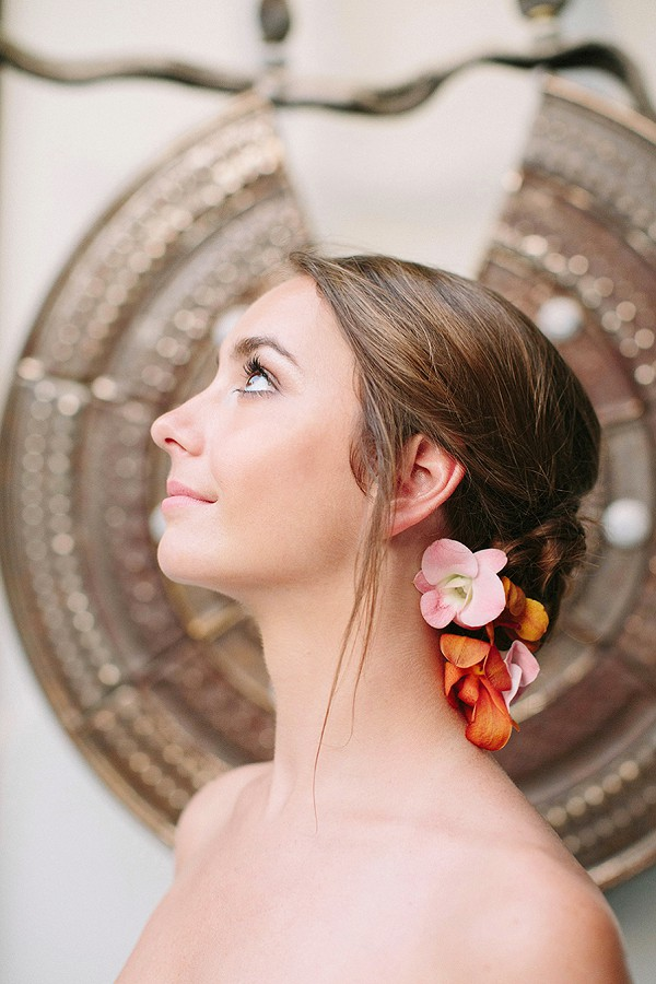 Simple wedding updo