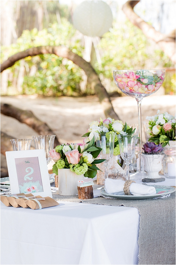 beach inspired wedding table