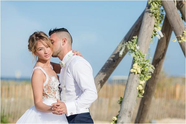 floral arch for beach wedding