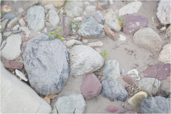 rocks in river bed