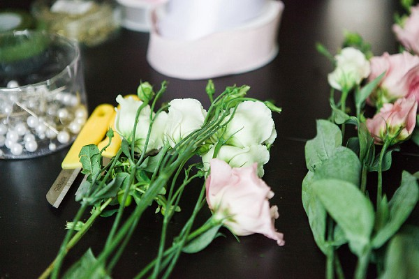 romantic haute couture wedding florals