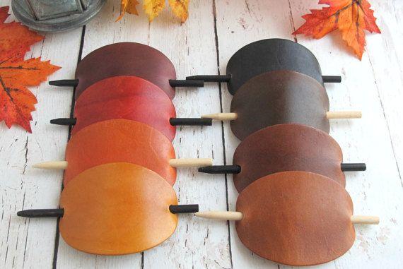 Autumn Colour Leather Hair Accessories