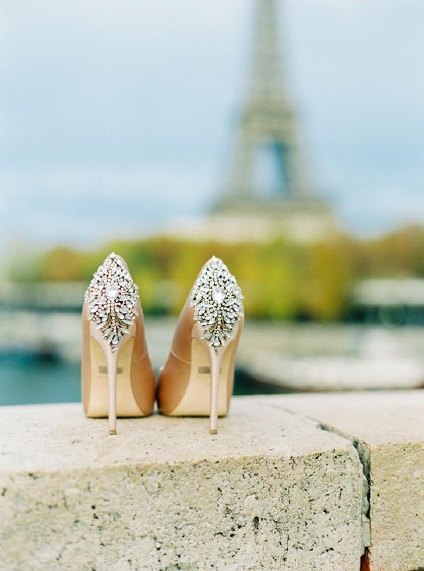 Badgley Mischka wedding heels