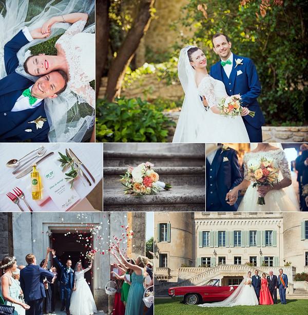 chateau du pouget languedoc wedding snapshot