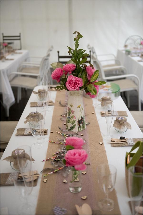 DIY garden style wedding