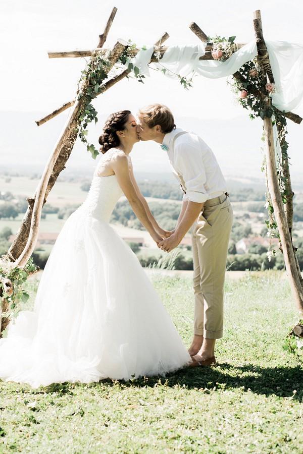 flower arch wedding