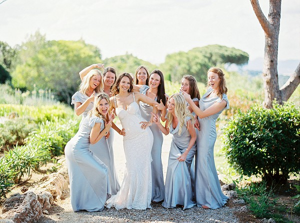 Fun bridesmaid shot
