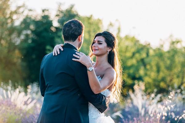 lavender field wedding image