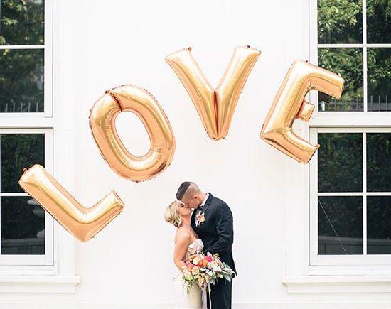 love 40 foil letter balloons