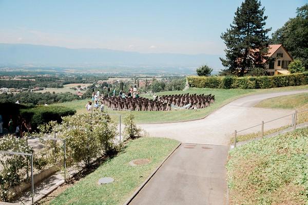 mountain view wedding ceremony