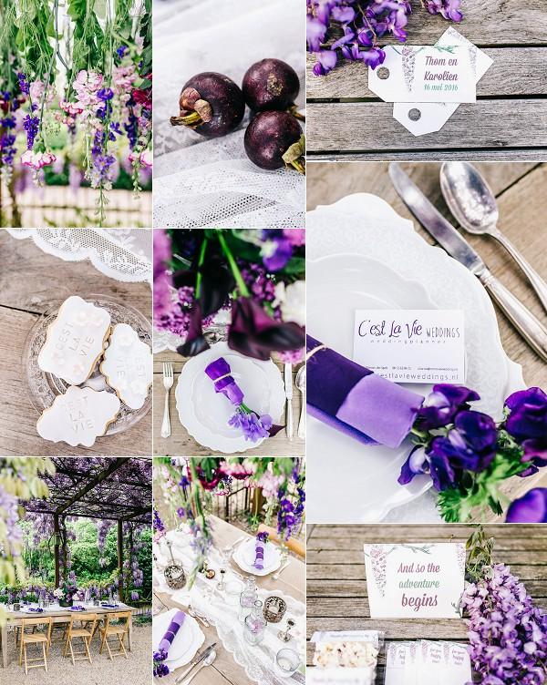 Romantic Wisteria Inspired Wedding Styled Shoot Snapshot