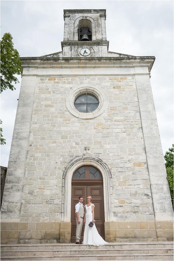 Rural South of France wedding church