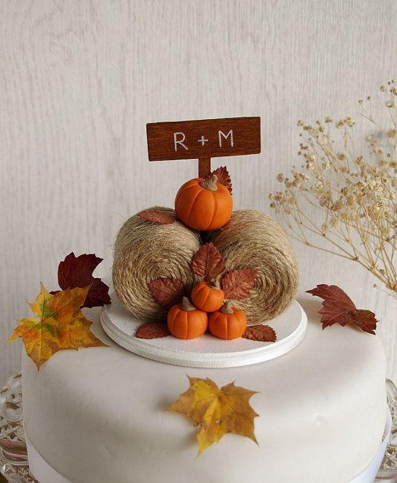 Rustic Pumpkin Hay Bales Cake TopperRustic Pumpkin Hay Bales Cake Topper