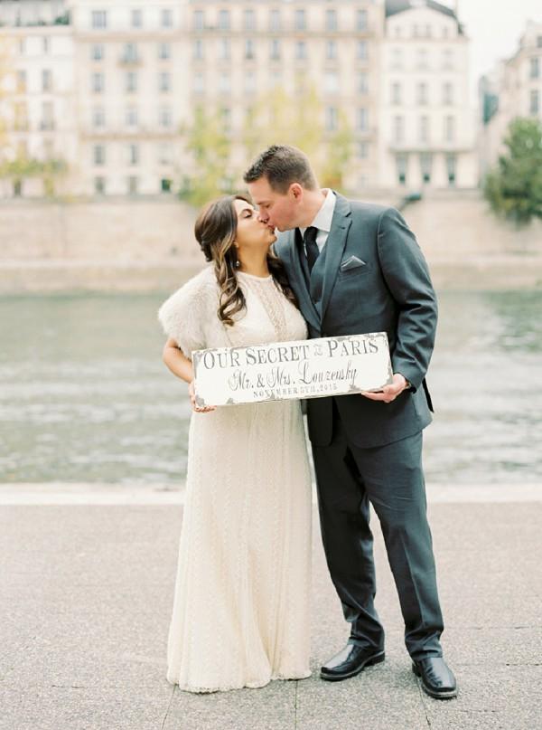 Secret elopement in Paris