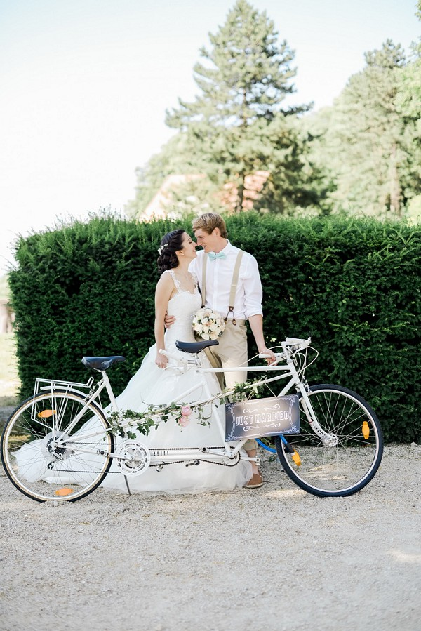 tandem wedding bike
