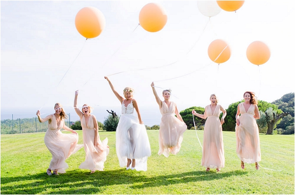 balloons as wedding day props