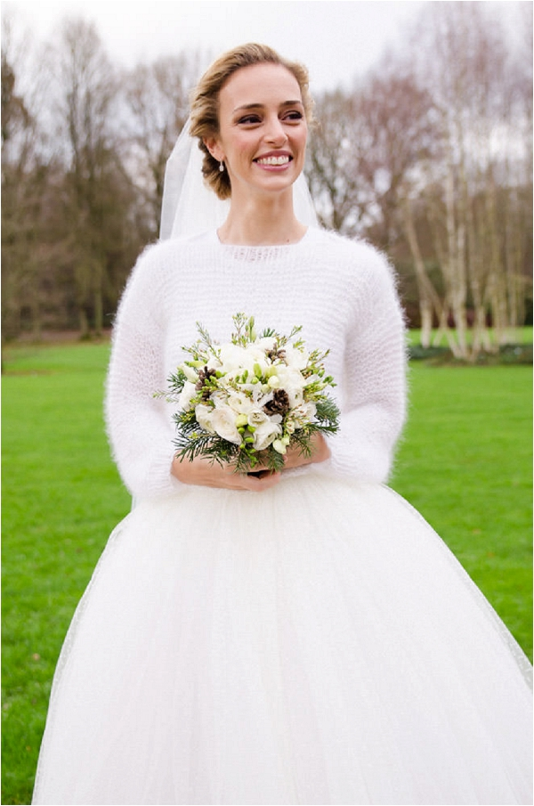 bridal outfit with tulle skirt and jumper