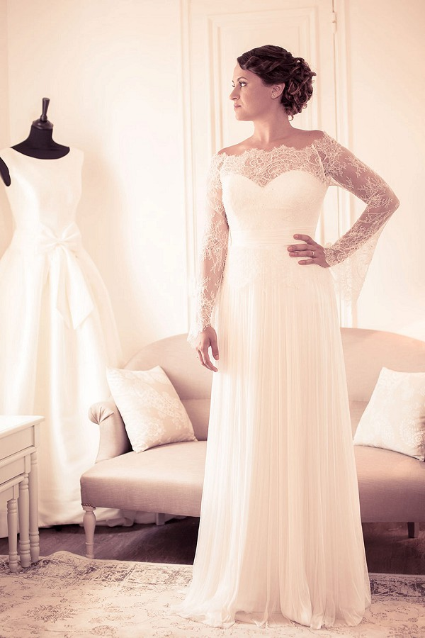 floaty wedding gown