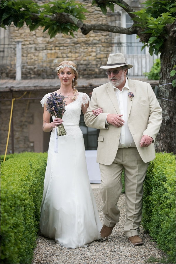 here comes the bride and father of the bride