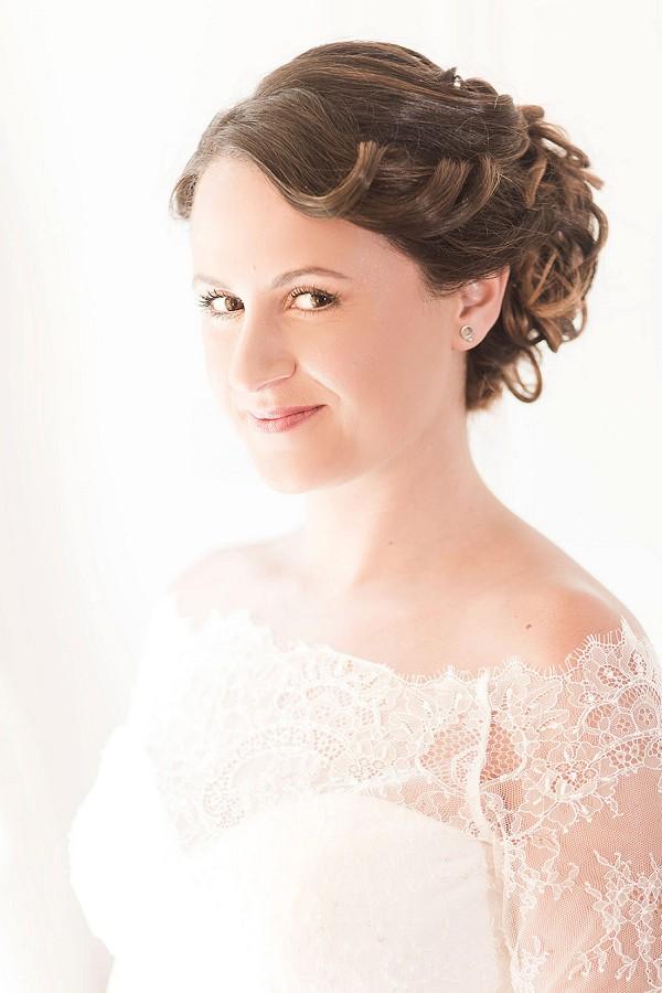 intricate wedding hair style