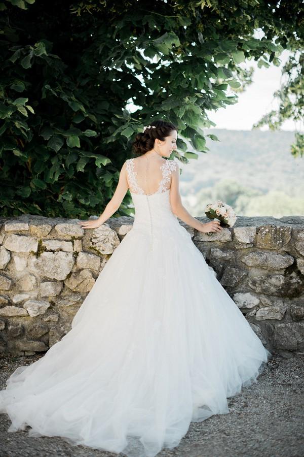 lace strap wedding dress