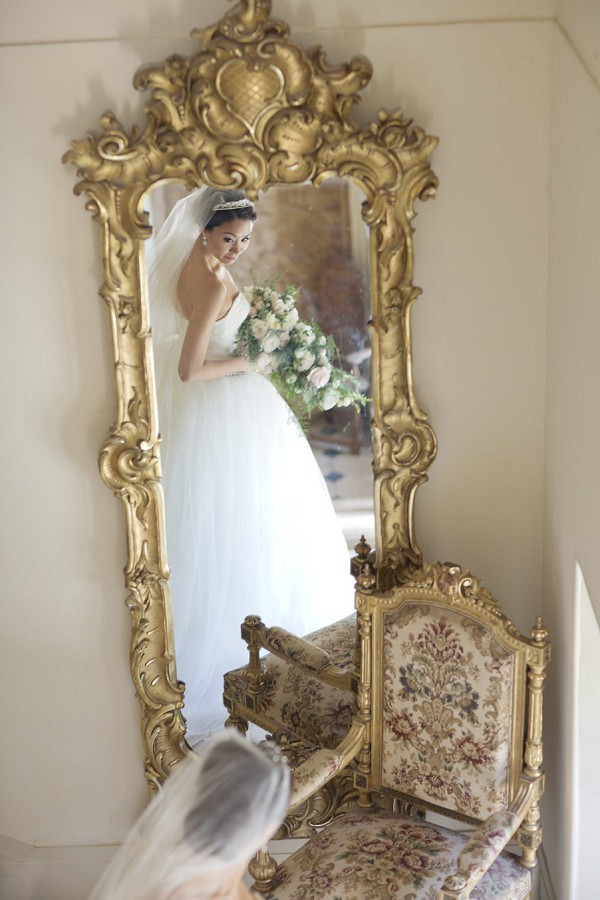 mirror wedding photo