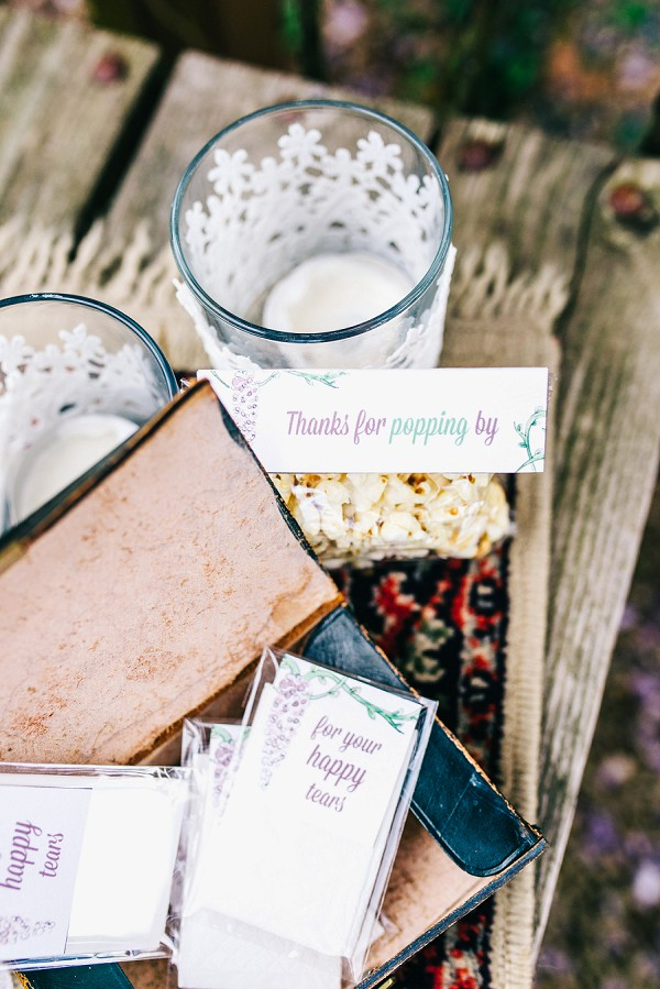popcorn wedding favours